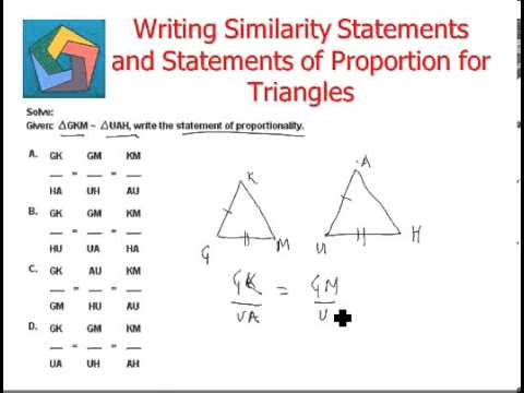 how to write a similarity statement for right triangles