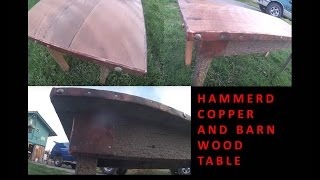 Rustic Copper And Barn Wood Table