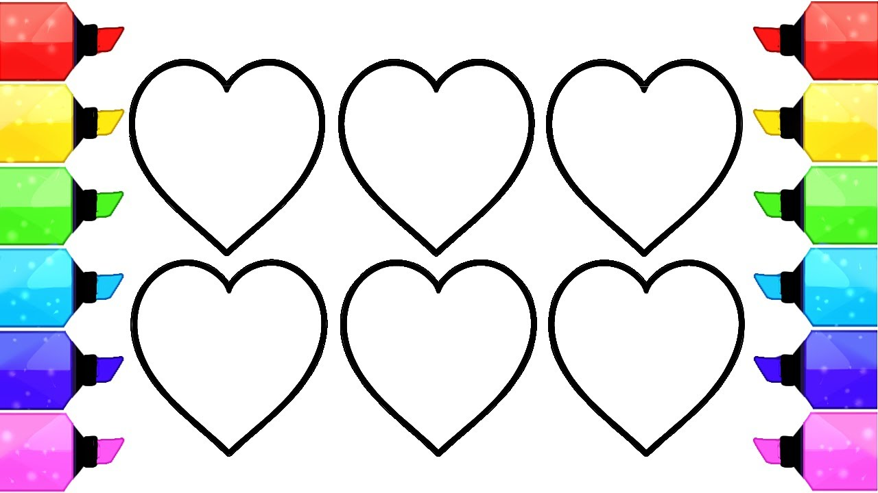Heart Shape Coloring Pages | How to Draw and Coloring Heart Shapes ...