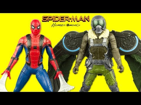 Spider-Man Homecoming Figurines Vautour Attaque Spiderman Vulture Jouet Toy Review Hasbro