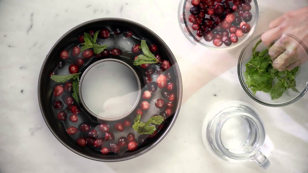 how to make a clear ice ring for punch