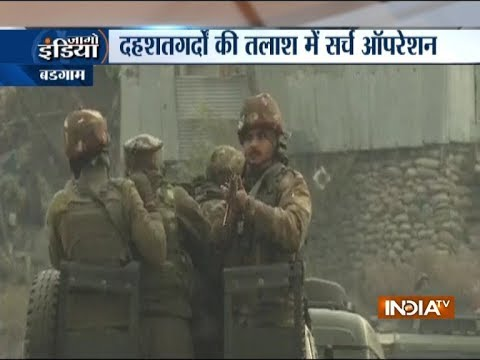 Jammu and kashmir: Massive search operation underway after encounter in Budgam