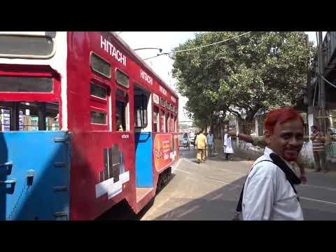 Tram route 11 Howrah bridge  to Shyambazar, Kolkata (India) thumbnail