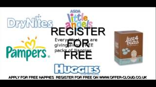 Claim your free nappies pampers huggies asda tescos nappies from www.offer-cloud.co.uk