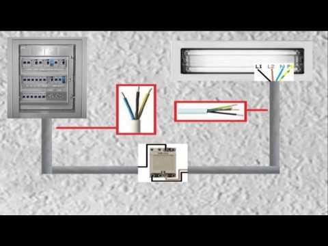 elektroinstallation teil 9 einen serienschalter anschli. Black Bedroom Furniture Sets. Home Design Ideas