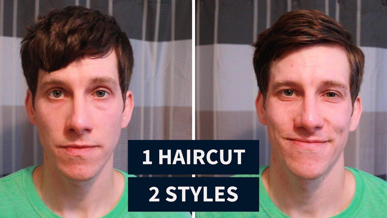 2 For 1 Mens Haircut Forward Fringe Short Side Part Youtube