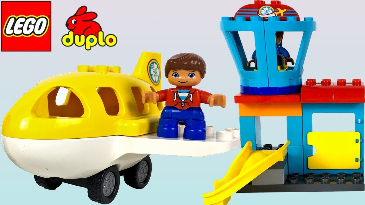 Rask LEGO DUPLO AIRPORT PLAYSET WITH AIRPLANE 🛩TOWER AND PASSENGERS MF-43