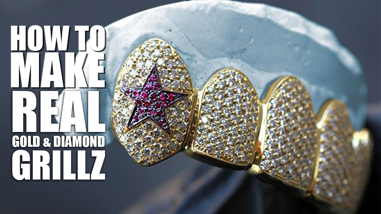 How to Make Gold Grillz (Real Gold & Diamond Teeth) The ULTIMATE Guide - TV Johnny, Icebox