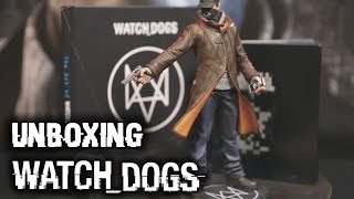 Watch Dogs Limited Edition Unboxing: OST Soundtrack, Steelbook, & Aiden Pearce Statue
