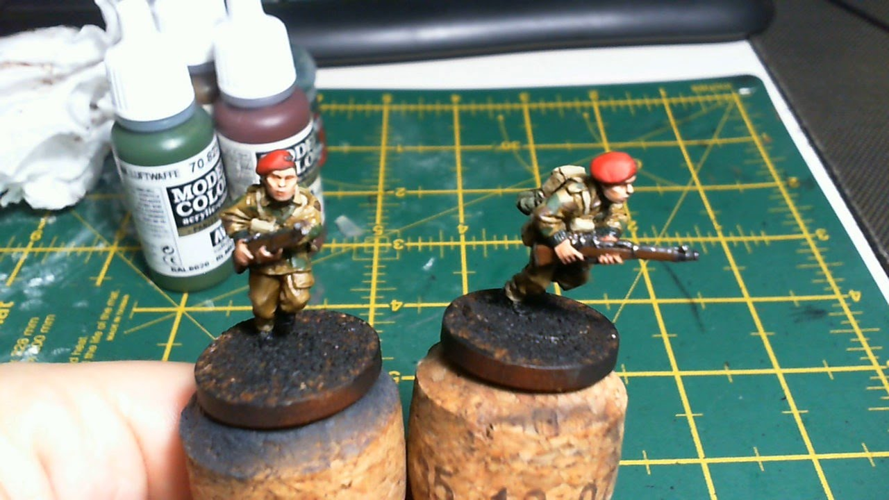 How To Paint British 8th Army - Bolt Action Tutorial - YouTube