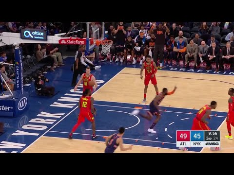 3rd Quarter, One Box Video: New York Knicks vs. Atlanta Hawks