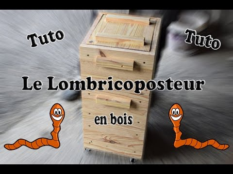 fabriquation d 39 un lombricomposteur en bois youtube. Black Bedroom Furniture Sets. Home Design Ideas