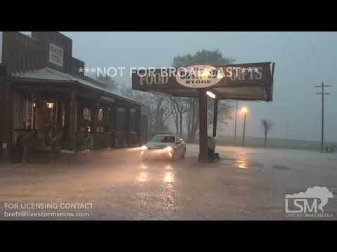 3-28-18 Cary, MS Tornado Warned Storm Produces High Wind, Hail, Heavy Rain, And Prolific Lightning