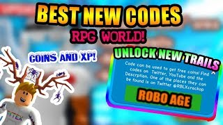 [BEST CODES]🔥Roblox RPG World All New Codes   Level Up And Unlock New Trails   Roblox 🔥