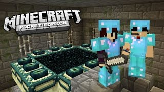 LUTA ÉPICA CONTRA O ENDER DRAGON NO MINECRAFT POCKET EDITION - SURVIVAL EM DUPLA AO VIVO !