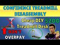 UPDATED Treadmill Desk Review And DIY Disassembly of Confidence Power Plus Treadmill Gaming Setup
