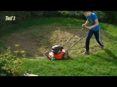 Rasen Neu Anlegen Von Unkrautwuste Zum Rasen Teil 1 Youtube