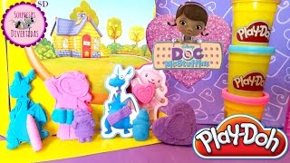 Juego Doctora Juguetes de Play-Doh en Español → Doc McStuffins Play-Doh set