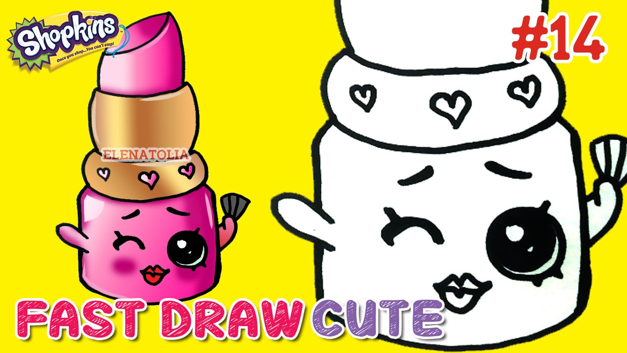 Easy Drawings How To Draw Shopkins Season 1 Lippy Lips Step By