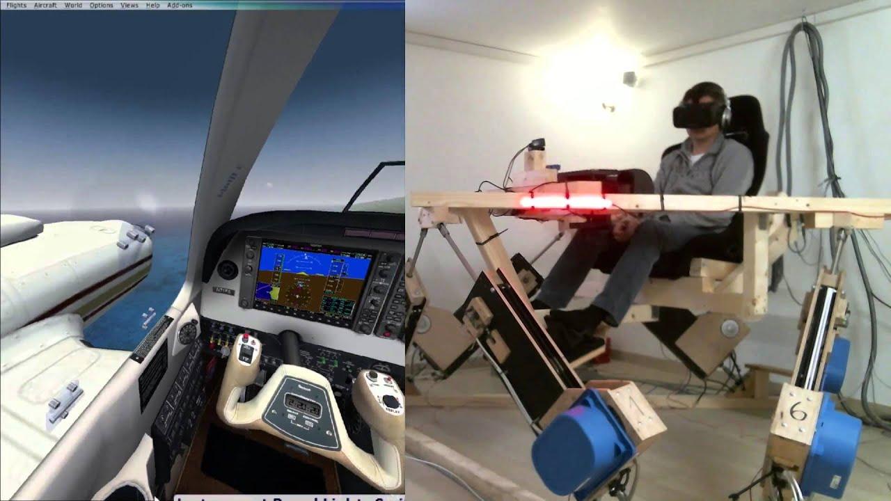 DIY 6DOF Motion Platform - FlyInside FSX - Oculus Rift DK2 - PHOG to PHTO