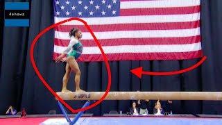 Simone Biles Triple Double Dismount On Floor (Championships 2019)