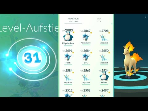 LEVEL 31 + UPDATE - 3000WP POKEMON + Gallopa • Pokemon Go deutsch