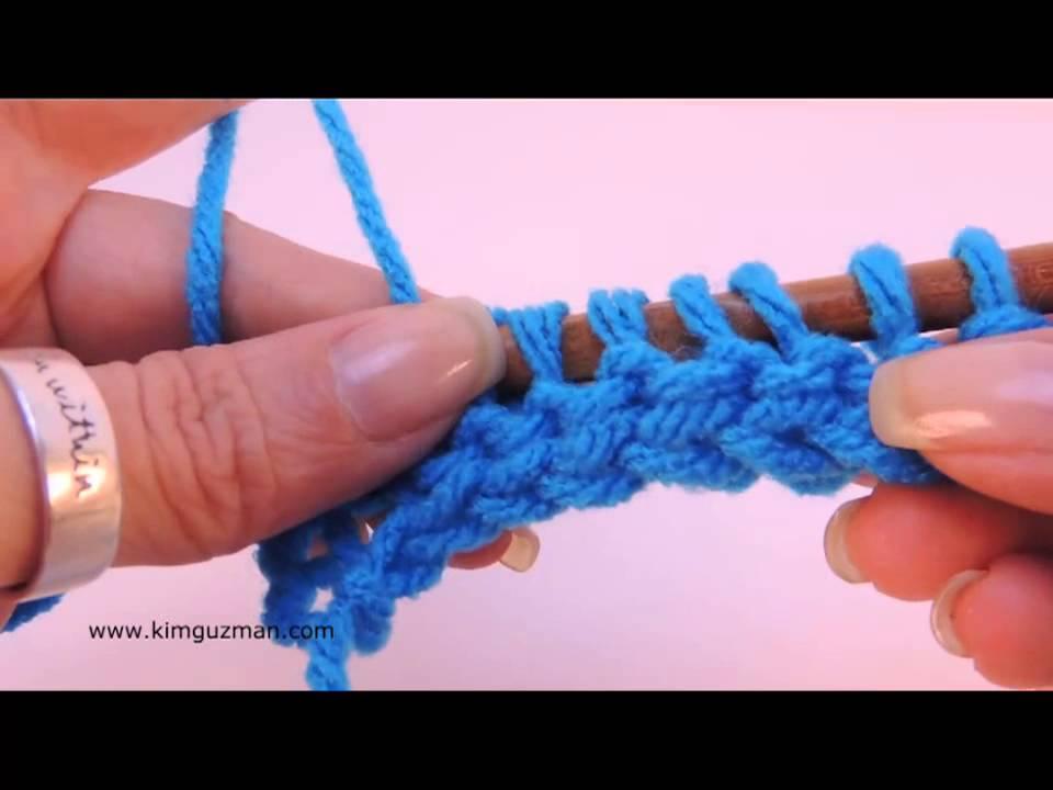 Tunisian Crochet: Twisted Purl Stitch - YouTube