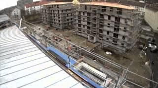 Bau im Zeitraffer - AKIDO GÄRTEN - Urbanes Wohnen in Würzburg