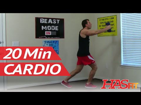 20 Min Cardio Shred Workout - HASfit Shredding Cardio Exercises at Home  - Cardio Workouts