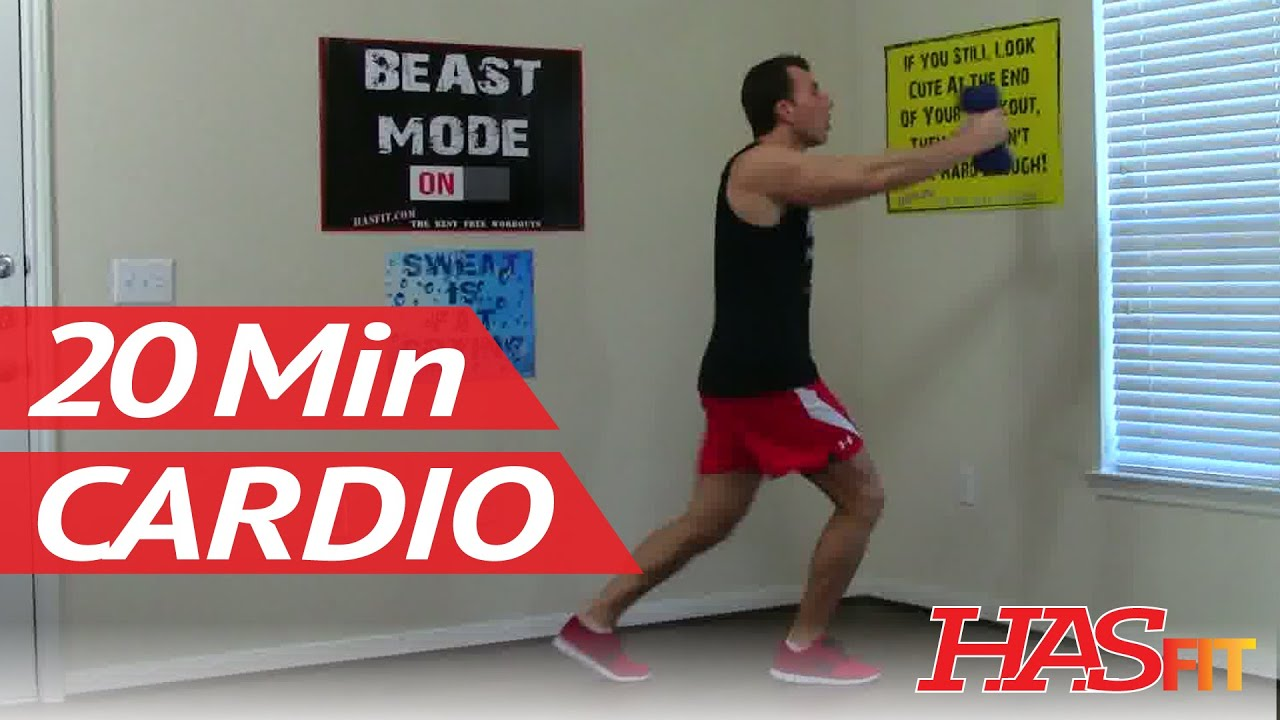 20 Minute At Home Cardio Workout 20 Min Cardio Shred Workout Hasfit Shredding Cardio
