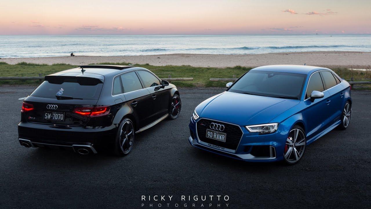 2018 Audi Rs3 Sedan Vs 2015 Rs3 Sportsback Exhaust Comparison