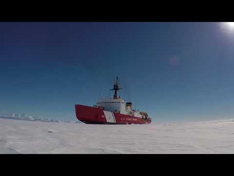 U.S. Coast Guard heavy icebreaker Polar Star at work in Antarctic ice