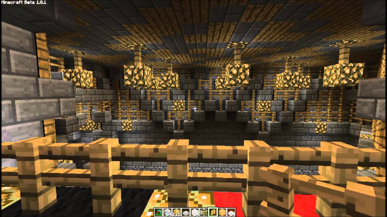 minecraft - castle decor (wip) - youtube