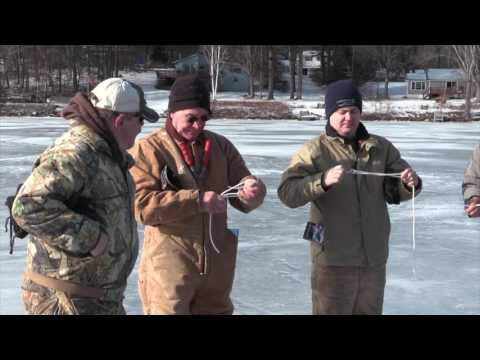 Ice Fishing On Lake Bomoseen With Vermont Fish And Wildlife