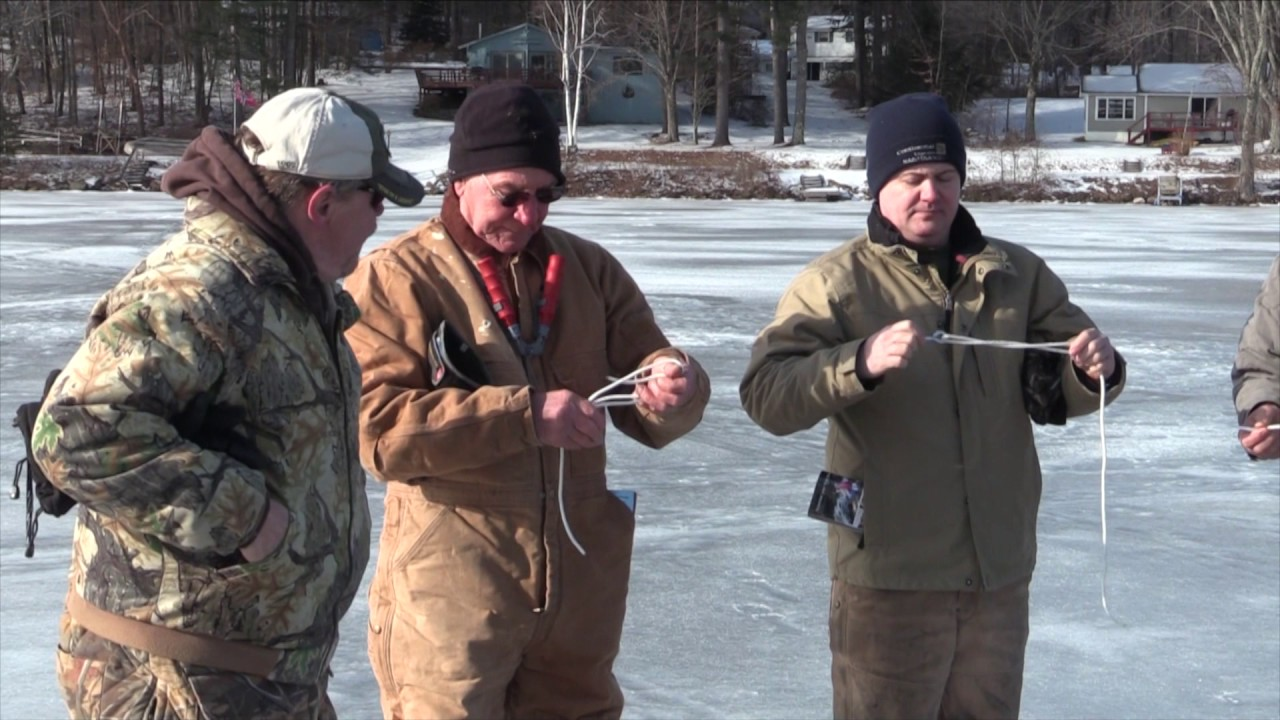 Ice fishing on lake bomoseen with vermont fish and for Vermont fish and wildlife