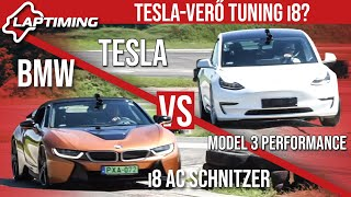 Tesla-verő Tuning i8? BMW i8 AC Schnitzer vs. Tesla Model 3 Performance (Laptiming ep.148)