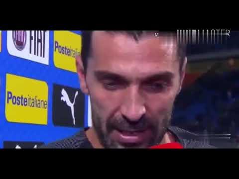 مؤثر بكاء الاسطورة  بوفون Gianluigi Buffon is crying after elimination vs Sweden