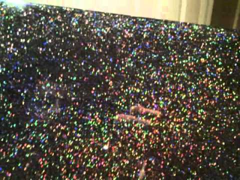 Resin Flooring With Holographic Glitter Youtube