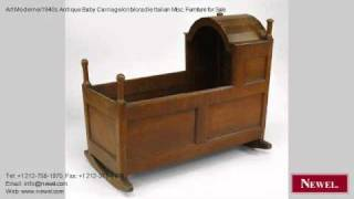 Art Moderne/1940s Antique Baby Carriage/crib/cradle Italian