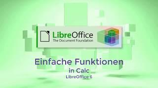 Einfache Funktionen in Calc - LibreOffice 6 (German/Deutsch)