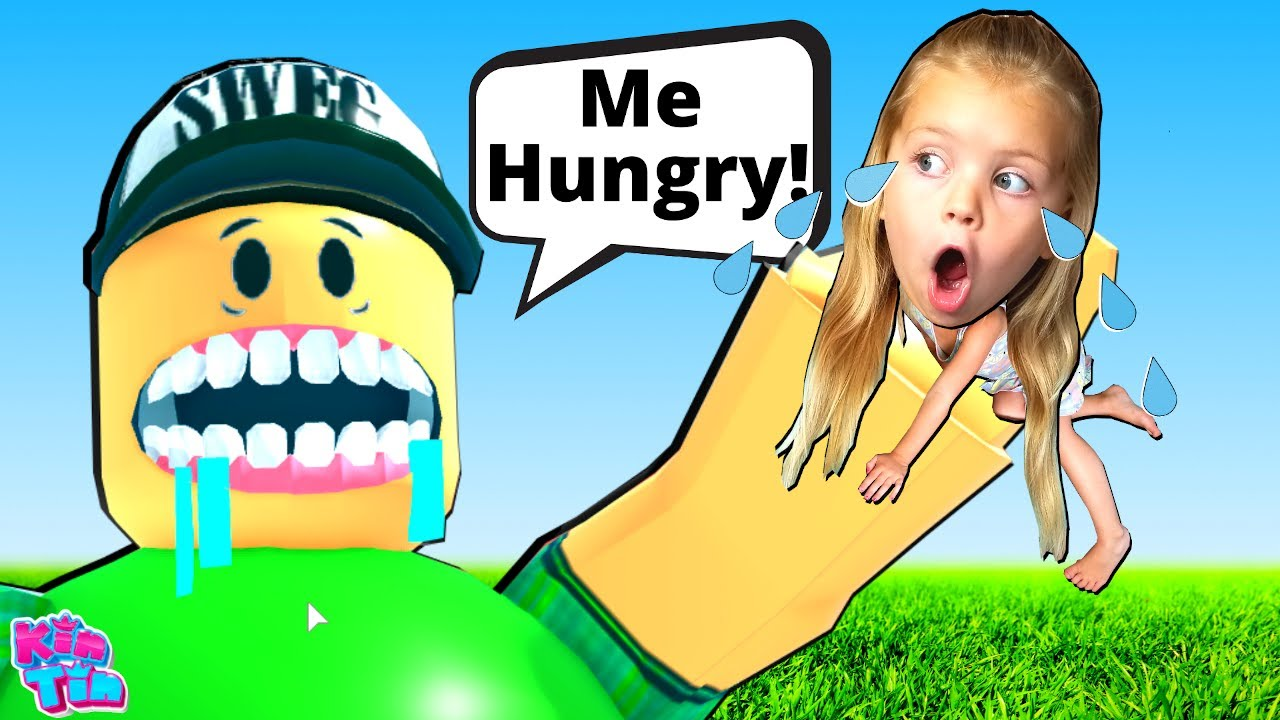 KiN TiN ESCAPE THE RESTAURANT OBBY FROM THE GIANT! GiANT FOOD (ROBLOX OBBY)