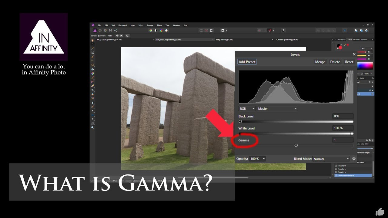 What is Gamma? (using Affinity Photo)
