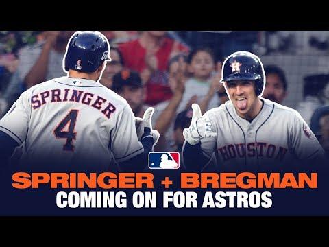 Alex Bregman + George Springer - Going off for Astros!