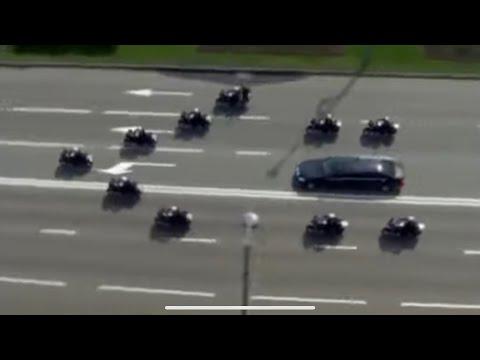 President Vladimir Putin Police Escort to Kremlin