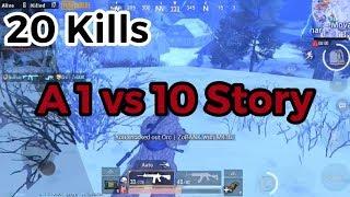 A 1vs10 story |  Conqueror Tier 20 Kills | PUBG Mobile