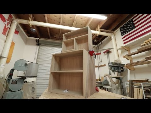 Building a liquor cabinet with hidden lifting storage, Part 1