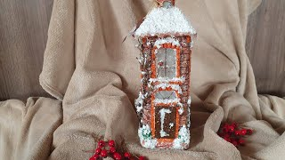 DIY: How to make Lighting house for Christmas on a whiskey bottle PART 1 TUTORIAL