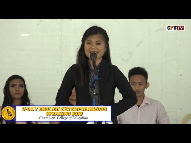 U-Day English Extemporaneous Speaking Contest 2019: Champion - College of Education