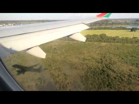 Landing Harare international airport Kenya airways E190