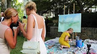 Live Wedding Painter: Fairy Tale  Wedding at The Estate at Cherokee Dock